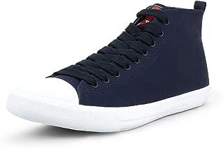 Men's Gabardine Canvas High Top Sneaker, Navy (9 US / 8 UK)