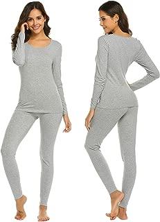 Ekouaer Womens Long Thermal Underwear Fleece Lined Winter Base Layering Set