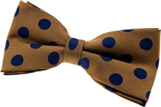 BESMODZ Men Vintage Polka Dots Bow Tie Woven Microfiber Business Pre-tied Bowtie