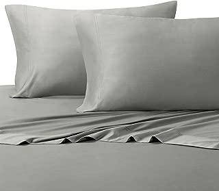 Royal Tradition 100 Percent Bamboo Bed Sheet Set, Split California King, Solid Grey, Super Soft and Cool Bamboo Viscose 5PC Sheets