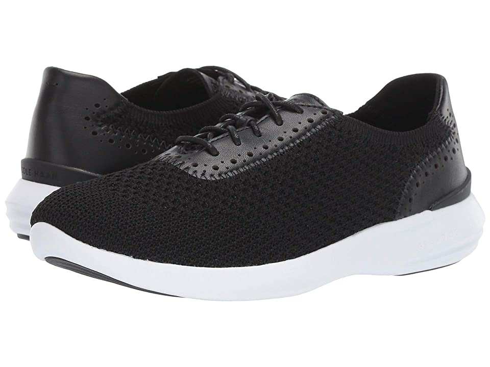 Cole Haan 2.0 Ella Grand Knit Oxford (Black Knit/Leather/Optic White) Women
