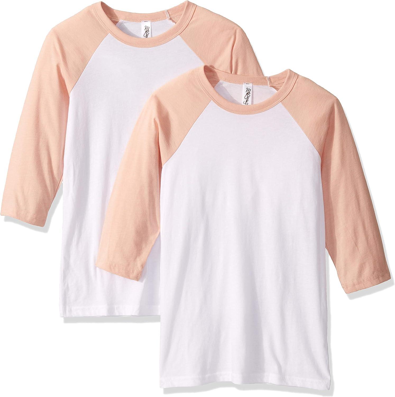 Marky G Apparel Boys Big 3//4-sleeve Baseball T-Shirt-2 Pack