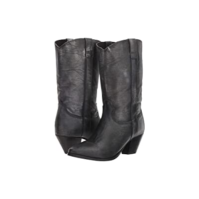 Dingo Tina (Black Distressed) Cowboy Boots