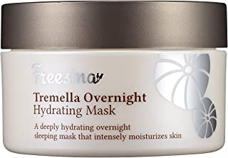 Korean Freesina All Natural Tremella Extract And Hyaluronic Acid Overnight Hydrating Mask Rich Moisture, Wrinkle Improvement, None Sticky, Gel Cream - 80 ml