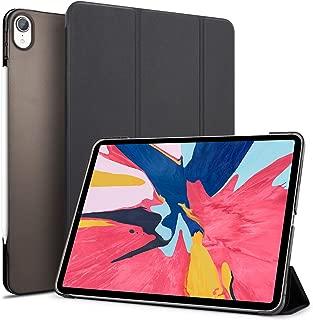 Tasikar iPad Pro 12.9 ケース (2018モデル) Apple Pencil2のペアリングとワイヤレス充電対応 軽量 薄型 傷つけ防止 保護カバー 三つ折スタンド オートスリープ機能付き 全面保護 PU レザー スマートカバー 2018年秋発売のiPad Pro 12.9インチ専用 (ブラック)
