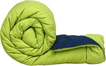 Clasiko Double Bed Reversible Ac Comforters, Fabric - Micro Cotton, 300 GSM, Color - Blue and Green, Size - 90 x 100 Inches