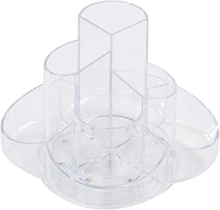 Acrylic Pen Holder - Rotating Stationery Organizer, Desk Organization, Desk Caddy, Modern Office Accessories, Clear, 6.5 x 4.7 Inches