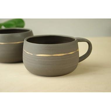 Handmade coffee mug pottery - 500 ml or 16 OZ, Modern large tea mug. Stylish cappuccino cup. farmhouse mugs. handmade Swedish mug.