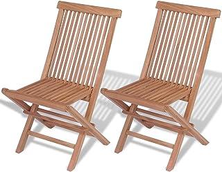 sillas plegables de madera de teka castle