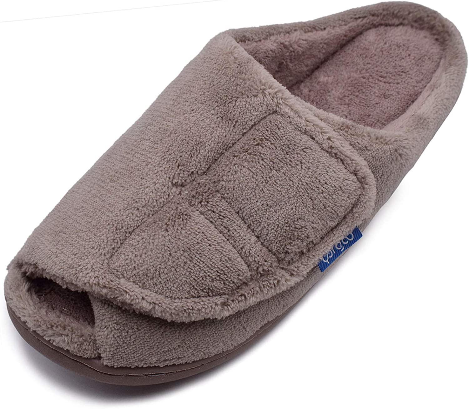 WLESVAGO Mens Wide Popularity House Selling and selling Slippers Adjustable Closure with Warm