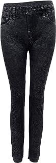 SODIALR SODIAL R Damen-Denim-Jeans Sexy duenne Gamaschen Jeggings Strumpfhosen Stretch-Hosen-Hose - Schwarz