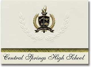 Signature Ankündigungen Central Springs High School (männliche, IA) Graduation Ankündigungen, Presidential Stil, Elite Paket 25 Stück mit Gold & Schwarz Metallic Folie Dichtung B078WFWXHV  Nicht so teuer