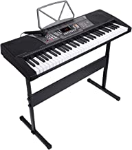 LAGRIMA 61 Key Portable Electric Piano Keyboard,W/Adjustable H Stand, LED Screen,..
