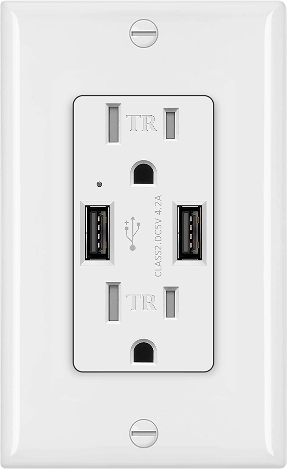 BESTTEN 15 Amp Direct stock discount USB Wall Charger Cash special price 4.2A Receptacle Outlet