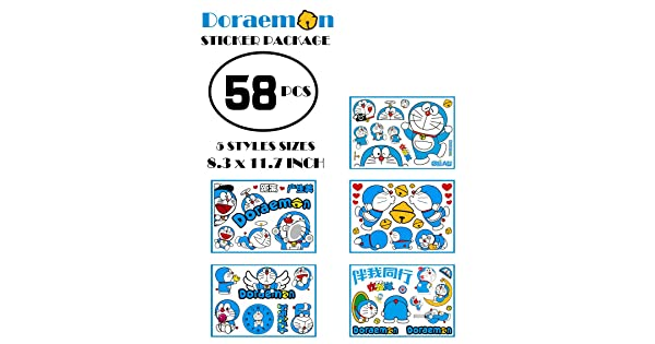 Anime Suitcase Stickers Helmet Decals Strong Self-Adhesive Anime Stickers for Cars Scratch PVC Car Window Stickers Not Fade sailorsunny Kawaii Car Stickers Cartoon Doraemon Car Decals and Stickers