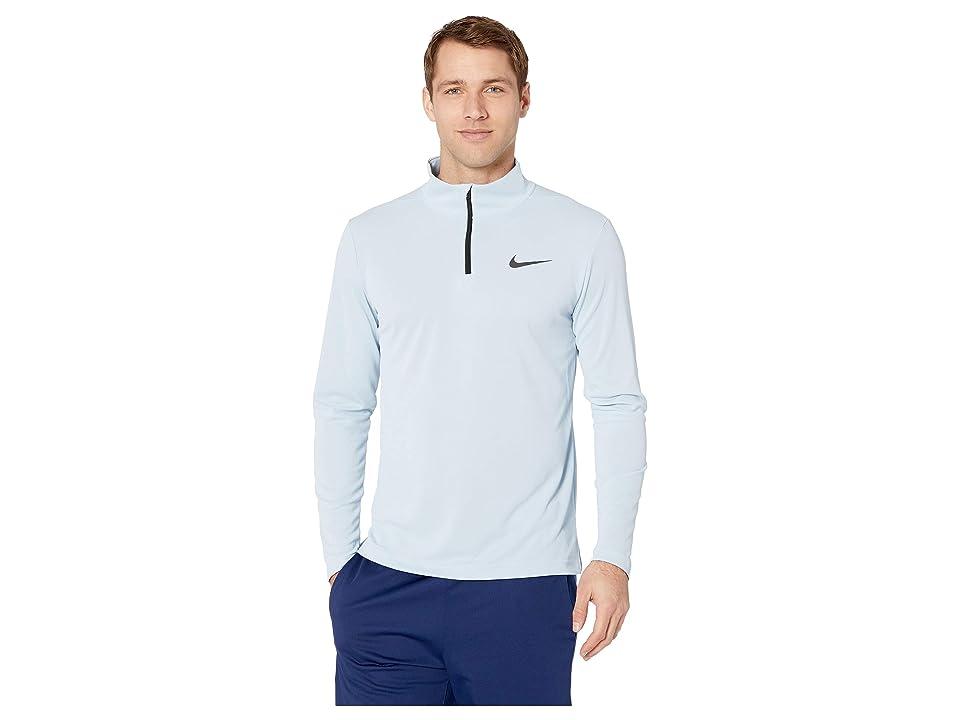 Nike Superset Top Long Sleeve 1/4 Zip (Light Armory Blue/Black) Men