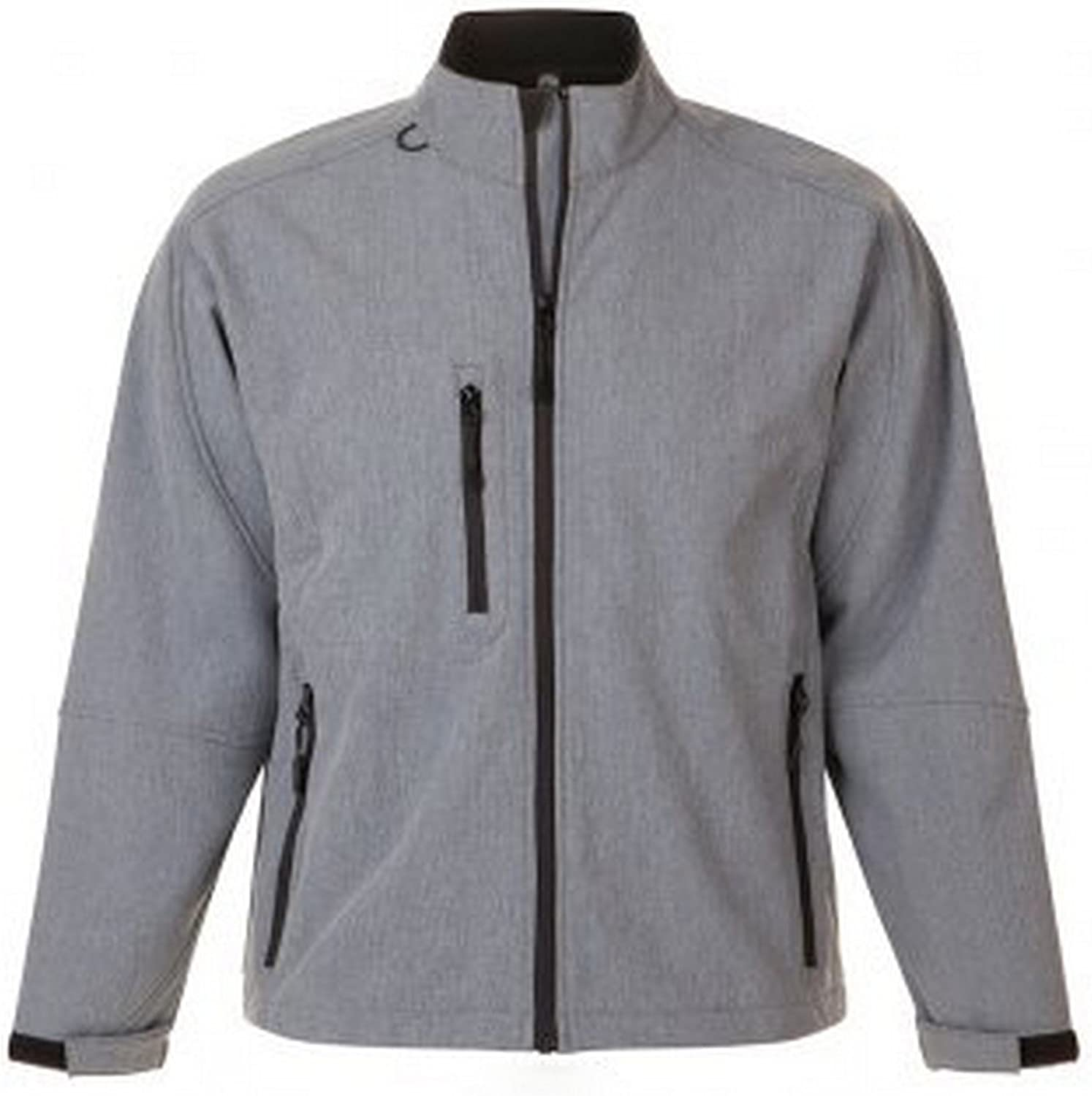 SOLS Mens Relax Soft Shell Jacket (Breathable, Windproof and Water Resistant)