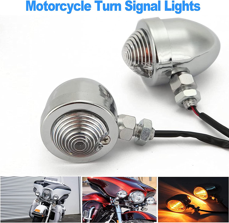 Soldering OXMART Universal Retro Under blast sales Motorcycle Turn Front Signals 2pcs Bullet