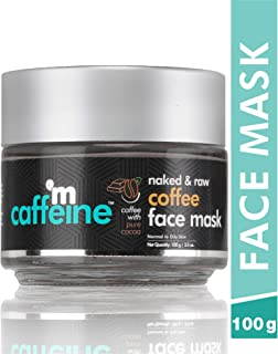 mCaffeine Naked & Raw Coffee Face Mask | Cocoa, Vitamin E | Tan Removal | Oily/Normal Skin | Paraben & Mineral Oil Free | ...