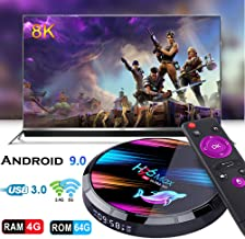 $61 » Smart TV Box,Dnyker Android 9.0 TV Box Smart Player 4GB RAM 64GB ROM 3D/ 8K Ultra HD/H.265/2.4GHz WiFi/USB 3.0/ Android Media Box