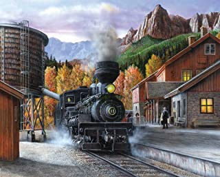 Springbok Puzzles - Mountain Express - 1000 Piece Jigsaw Puzzle - Large 30 Inches by 24 Inches Puzzle - Made in USA - Uniq...