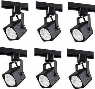 Elitco Lighting TKH210BK-6PK Matte Black Track Head, 120V, FITS GU10, (Light Source NOT Included) L2.94