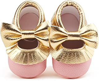 Infant Toddler Baby Soft Sole Tassel Bowknot Moccasinss Crib Shoes