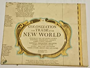 NATIONAL GEOGRAPHIC MAGAZINE MAP - Colonization and Trade in the New World - December 1977 - MAP ONLY