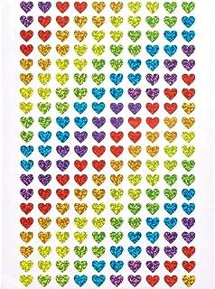 Baker Ross Minipegatinas de corazones holográficas (Paquete de 400) Para decorar manualidades infntiles