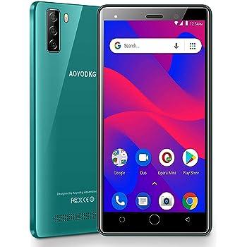 "Moviles Libres 4G, AOYODKG A9+ Android 9.0 Smartphone Libre, 16GB ROM/128GB 5.5"" HD+ Pantalla 4800mAh, Cámara 8MP Touch ID y Face ID Dual SIM Teléfono móvil GPS (Negro): Amazon.es: Electrónica"