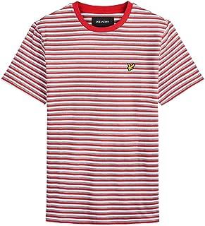 Lyle and Scott Mens Men's Ringer T-Shirt with Stripe - Cotton