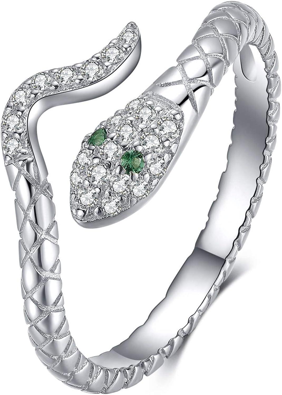 Presentski Snake Stackable Rings Sterling Award Adjustable New Free Shipping 925 Silver