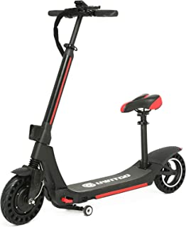 UWITGO Elektrisk skoter vuxen hopvikbar 25 cm lång räckvidd 95 km E-scooter med avtagbar sätessparkcykel vikbar 350 W 15,6...