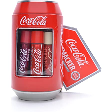 Lip Smacker - Coca-Cola Can Collection - Set di Burrocacao per Bambini - Vari Gusti Ispirati al Mondo Coca Cola - Iconica Lattina Coca-Cola da Collezione - Confezione Regalo da 6 Burrocacao