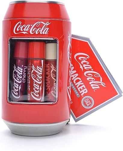 Lip Smacker - Collection Canettes Coca-Cola - Ensemble Baumes à Lèvres de Différents Parfums - Cadeau Sucré en Canett...