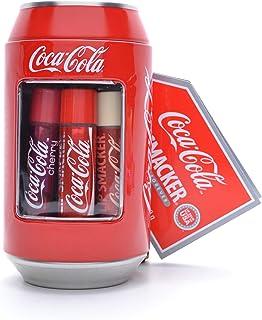 Lip Smacker Caja de metal de Coca Cola con 6 bálsamos labiales de aromas surtidos