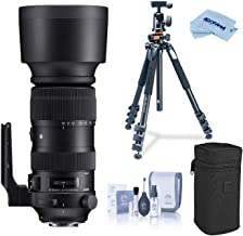 $1759 » Sigma 60-600mm F4.5-6.3 DG OS HSM Sports Camera Lens, Black (730954), Canon EF Mount Bundle with Vanguard Alta Pro 264AT Tripod and TBH-100 Head with Arca-Swiss Type QR Plate, Cleaning Kit