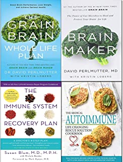 Immune system recovery plan, medical autoimmune life, grain brain whole and brain maker [hardcover] 4 books collection set
