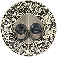 Asas Paquete de 4 piezas de manijas Ca/ída de manijas Tiradores Estilo chino tradicional Lat/ón Perfecto for muebles de madera Gabinete Puerta de caj/ón tornillos incluidos La barra de la manija del dor