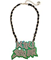Betsey Johnson - Name Plate Necklace