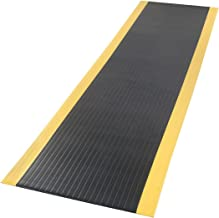 product image for Apache Mills Pebble Surface Mat, Black /Yellow, 36x144""