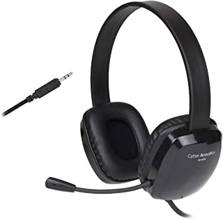 Auriculares estéreo con micrófono unidireccional con cancelación de ruido. Compatible con PC, Mac, Chromebooks, Microsoft ...
