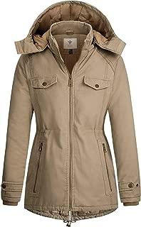 WenVen Women's Thicken Zip Quilted Cotton Jacket with Hood