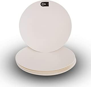 Coza Design- Unbreakable and Reusable Plastic Plate Set- BPA Free- Set of 6 (White)