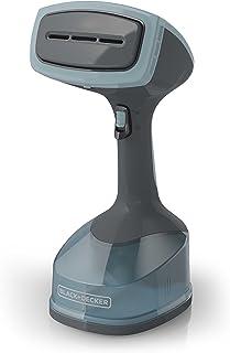 Black +Decker HGS200 - Vaporizador de tela con 3 accesorios, color gris y azul, color azul