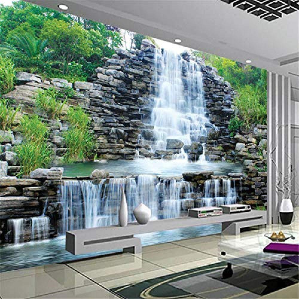 Amazon 中国スタイルのロッカリー滝自然風景写真壁紙リビングルームテレビソファの背景の壁家の装飾3d壁画壁紙 400x280cm 壁紙
