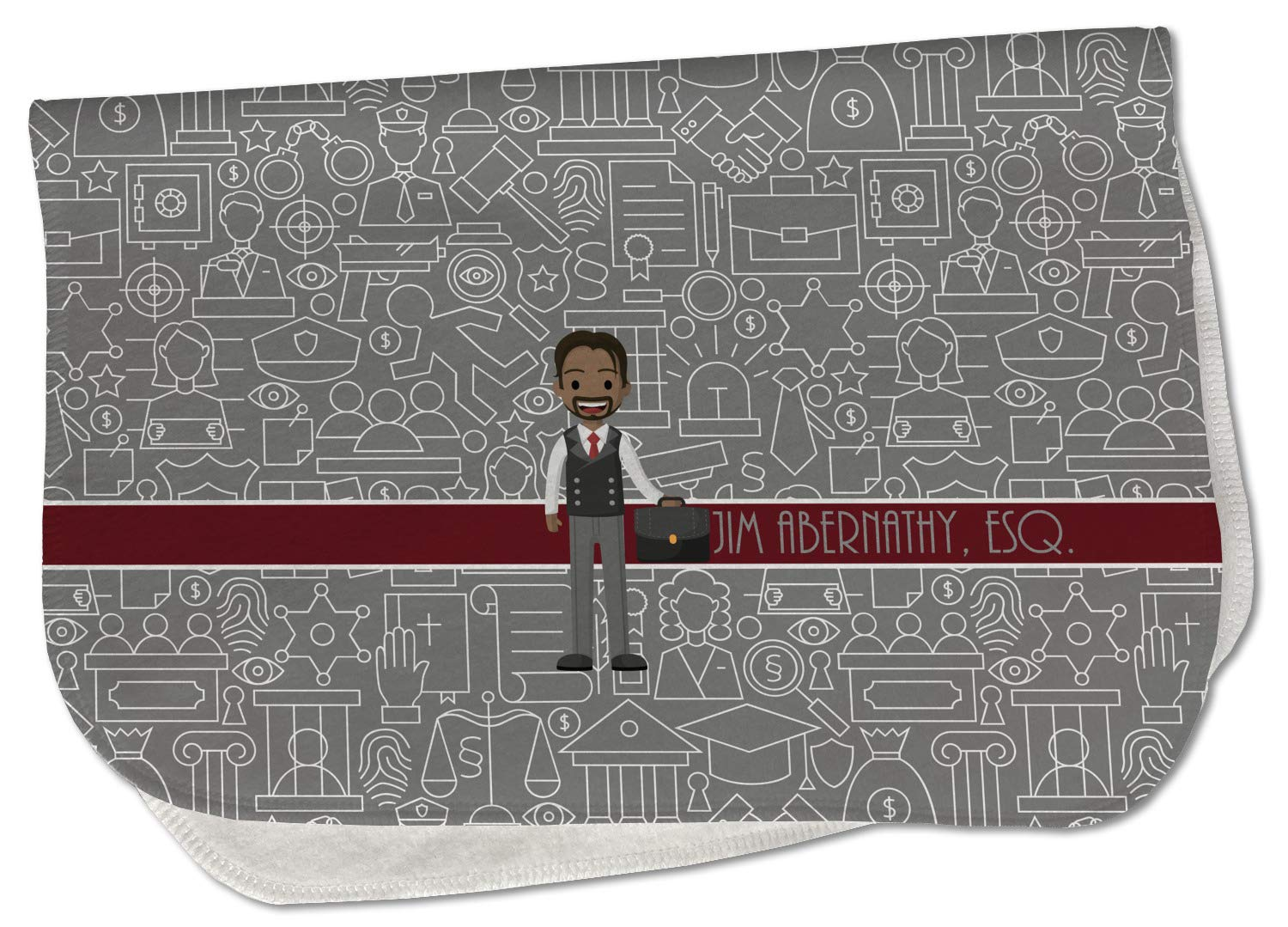 quality assurance Lawyer Attorney Avatar supreme Burp Cloth - Name or w Fleece Text