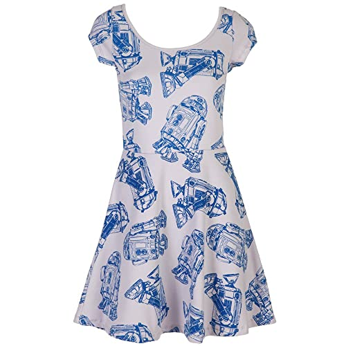 6fbe89d2be Star Wars R2-D2 All Over Juniors Skater Dress - Grey (XX-Large