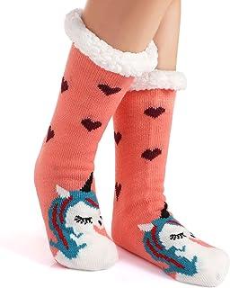 Mujeres Gruesos lana calcetines de piso casa abrigados animal calcetines de mujeres antideslizantes calcetines de alfombra Zapatillas de casa para Mujer