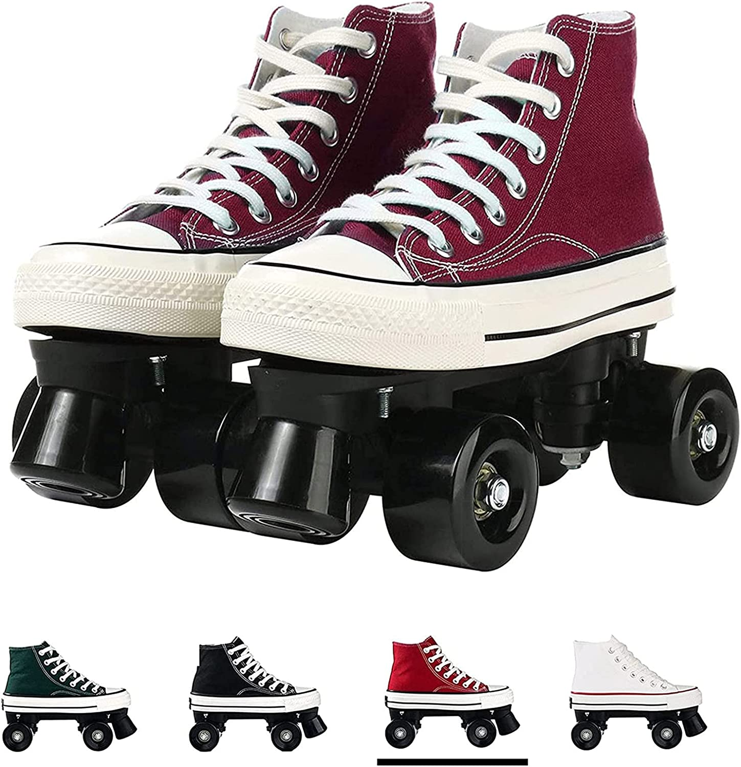 Quad Roller Skates for Men and Canvas Top Outdoor free shipping Women High Sn Tucson Mall